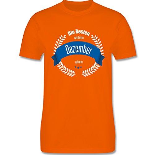 Geburtstag - Die Besten werden im Dezember geboren - Herren Premium T-Shirt Orange