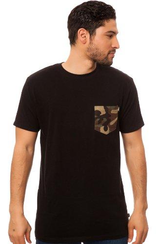 HUF Shirt schwarz Japanese Camo Pocket Herren Schwarz - Schwarz