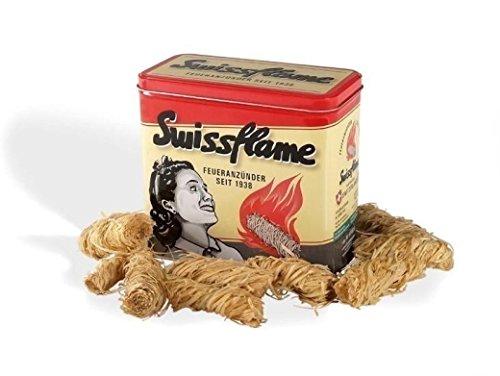 Preisvergleich Produktbild Swissflame Nostalgiebox 1 Stück gefüllt mit Flammator Bioanzünder ca. 50 Stück