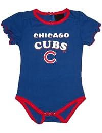 MLB Chicago Cubs Bébé / Jeunes Filles One-Piece manches courtes combinaison / barboteuse / Onesie - Bleu