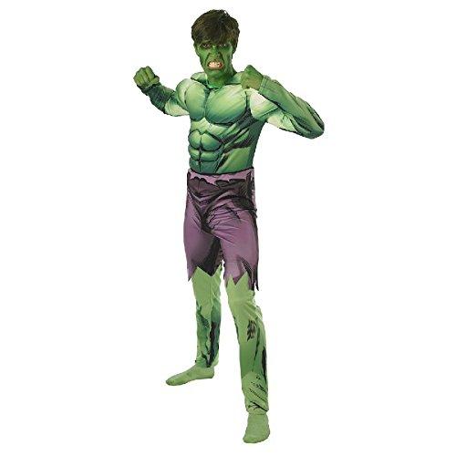 Hulk Herren Kostüm Overall mit gesteppter Muskel-Brust (Hulk Kostüm Erwachsene)