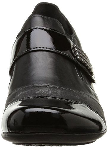 Remonte D7333 01, Mocassins femme Noir (Noir Combiné)