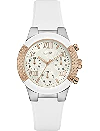 Guess Damen-Armbanduhr Analog Quarz Silikon W0773L1