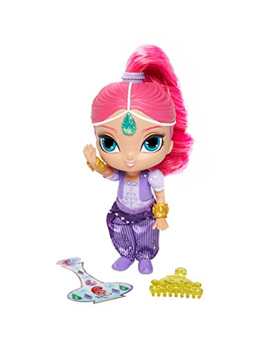 Fisher-Price Shimmer and Shine - Muñeca blíster, color rosa, versión en italiano (Mattel DLH56)