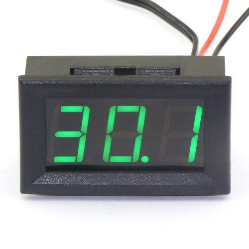 Digital Thermometer, Droking DC 12V -50 ~ 110 ℃ Temperatur Detektor LED-Anzeige Test Temperature Sonde mit Temperaturfühler (Grüne) -