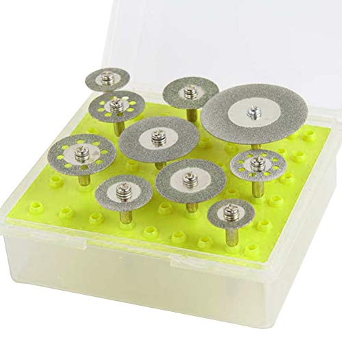 """Yardwe 10 STÜCKE Diamanttrennscheibe 1/8\"""" Diamant Trennscheiben Set für Dremel Rotary-Tool für Metall,Glas Holz"""