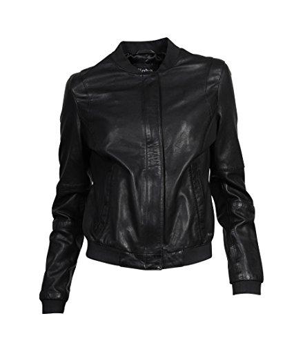 TIGHA Damen Lederblouson Lexa in Schwarz Black