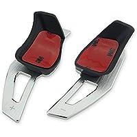 Heinmo 2PCS Aluminum Material Volante Shift Paddle Shift Extensión para Golf5 Golf6 Scirocco EOS PasatCC Silver Black (Plata), Unisex Adulto, Plata