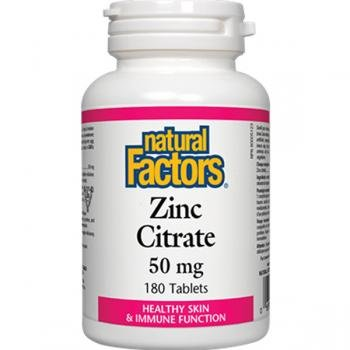 Citrate) 90 Tabletten (Natural Factors Zinc Citrate, 90 Tabs, 15 Mg)