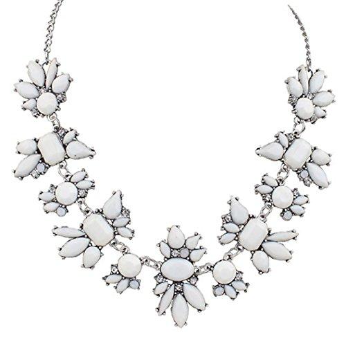 Collar para mujer, FEITONG Fresco Salvaje Moda Delicado Clavícula Collar (Blanco)