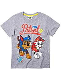 3f87c6863 La Pat  Patrouille T-Shirt Manches Courtes Enfant garçon Gris de 3 à 8ans