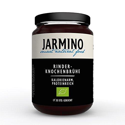 Jarmino BIO Knochenbrühe vom Weiderind |4x 350ml feinste Bone Broth | Enthält natürliches Protein, Collagen, Hyaluron & ist low carb| Superfood Collagen Drink