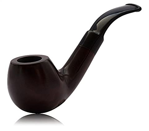 Tobacco Pipe - Classic Wood Pipe brown for beginners and advanced