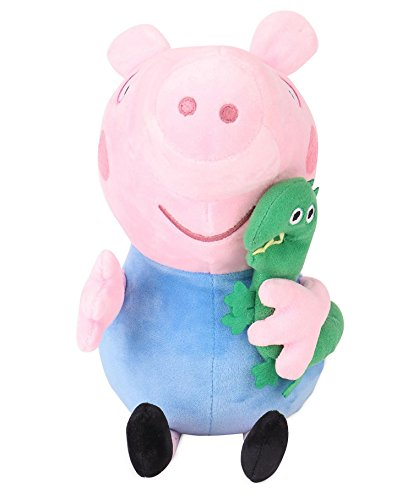 Peppa George Pig with Dinosaur Plush, Multi Color (30cm)