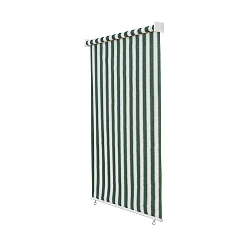 Jarolift Estor Exterior/Persiana Exterior/Toldo Vertical, 240 x 240 cm(Ancho x Altura) Verde - Blanco