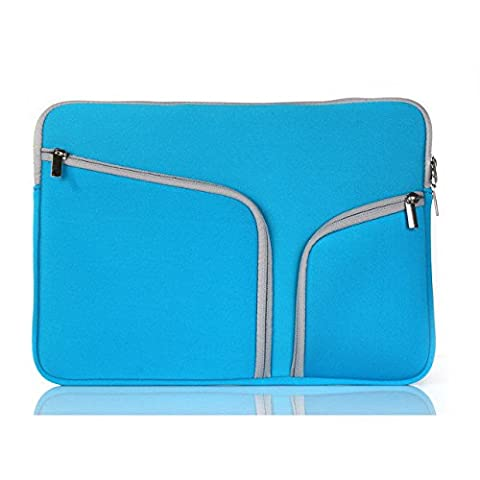 ARTLU® Style Simple Sleeve Housse pour ordinateur portable 11 inch,Coton Notebook antichoc Computer Handbag Case Cover Pour Macbook Pro (Retina) Asus Zenbook / Lenovo / Samsung / Sony / Chromebook (bleu)