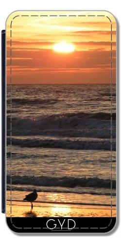 Custodia in PU Pelle per IPhone 5/5S - Tramonto Vacanza Viaggio Di Palma by WonderfulDreamPicture