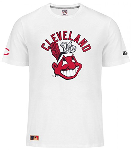 New Era MLB CLEVELAND INDIANS Cooperstown Script T-Shirt , Größe:XL