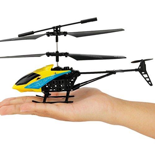 Bescita Mini RC 2CH Mini Quadcopter Hubschrauber Funkfernsteuerung Infrarot Induktions Flugzeug mit Gyro (Gelb)
