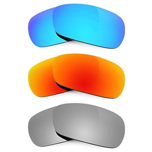 Revant Ersatzlinsen für Oakley Crosshair 2.0 Polarisiert 3 Paar Kombipack K014
