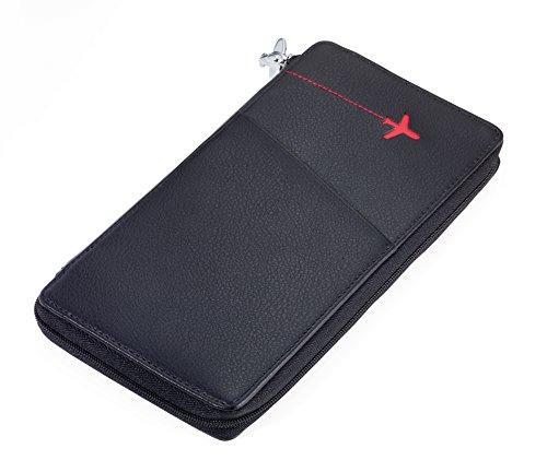 TROIKA RED Pepper – TRV82/LE – Etui für Reisedokumente – mit Ausleseschutz für RFID-Chips – 9 Kartenfächer – für Tickets, Pass, Personalausweis, Führerschein, Boardingkarten – TROIKA-Original