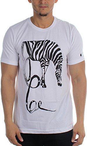 Arka Unraveling-Maglietta da uomo, motivo: zebrato