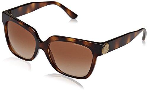 Michael Kors Damen ENA 328513 55 Sonnenbrille, Dark Tortoise/Browngradient