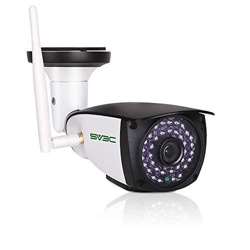 gskamera Aussen WLAN, Super HD WiFi IP Kamera für Außen mit Zwei-Wege-Audio, Nachtsicht, SD Kartensteckplatz, Bewegungserkennung kompatibel mit Smartphones Tablets und Windows PC ()