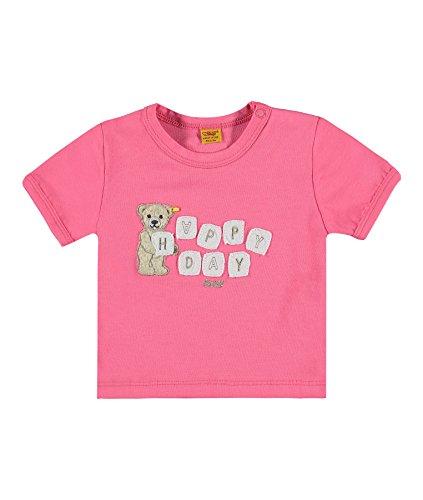 Steiff Baby-Mädchen T-Shirt 1/4 Arm, Rosa (Hot Pink 2610), 56 (Hot Rosa T-shirt)
