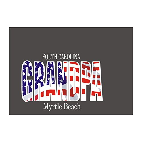 Teeburon Myrtle Beach grandpa Aufkleber Packung x4