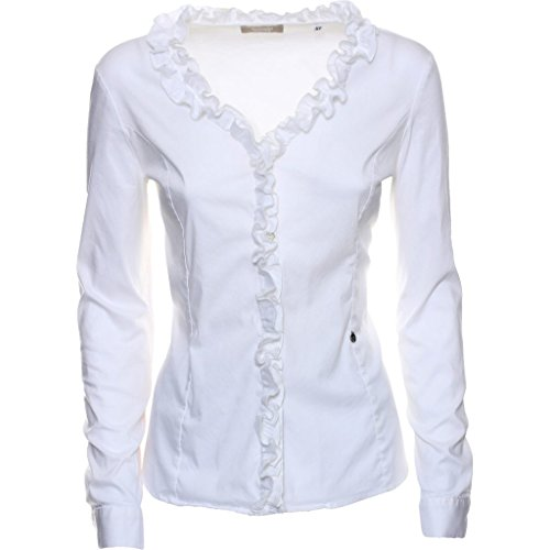 A662250D-707.Camicia rouche.Bianco.46