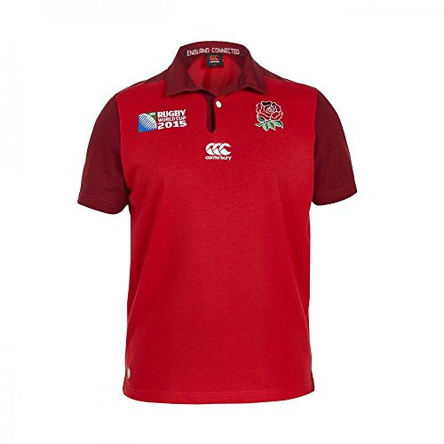 Canterbury Angleterre RWC 2015 - Maillot Rugby Classique Alterné MC - Rouge
