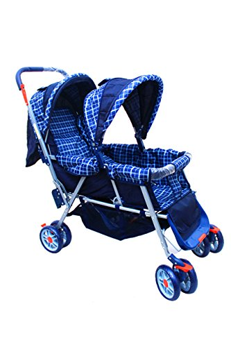 Polka Tots Soft, Comfortable Shockproof Twin Stroller & Pram for Babies