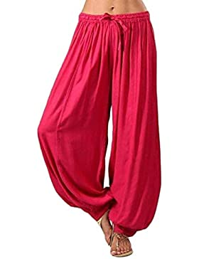 Mounter - Pantalones de Deporte para Mujer, Talla Grande, Sueltos, Color sólido, Pantalones de Yoga, Pantalones...