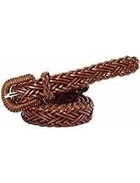 Cinturon elástico de Mujer La Correa Trenzada Flaca de la Cintura de Las Mujeres  tejió la Correa Fina para el Vestido… d91b08ca677f