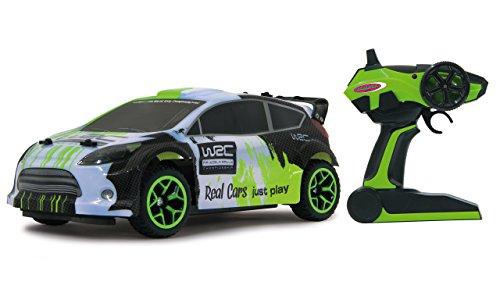 Jamara 405117 - Rally Car WRC 1:18 4WD 2,4GHz - voll proportionaler Fahrtenregler, Allradantrieb, gefedertes Fahrwerk vorn, Gummibereifung, Spur einstellbar, Rammschutz vorne