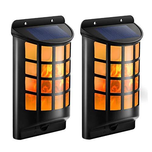 WYLDDP Solarleuchten Outdoor, flackernde Flamme Wand Sicherheits-Leuchten für Dunkles Sensor Auto On/Off für Garten, Pathway, Garten, Auffahrt, Wand, Zaun, Patio Bar