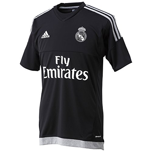 adidas Herren Trikot Real Madrid Replica Heimtrikot Torwart Langarm, Black/Grey, S -