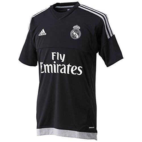 Adidas Maillot Real Madrid pour hommes, Replica Maillot de gardien de but S Noir - Noir/Gris