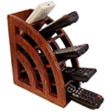 [Sponsored]RGRANDSONS® Handmade Wooden Remote Control Storage Holder Stand Organizer Rack Plain