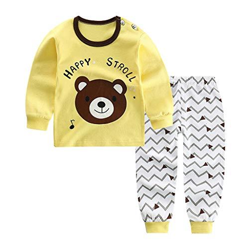 Julhold Kind Kind Baby Jungen Mädchen Lässig Cartoon Ente Lieber Hund Stern Freizeit Keep Cotton Pyjamas Outfits Set 0-5 Jahre