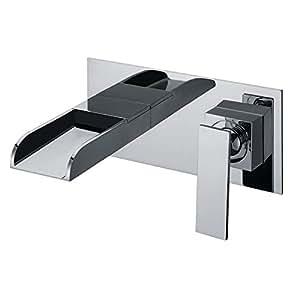 encastr salle de bains lavabo robinet mitigeur montage mural chrome sanlingo s rie yla amazon. Black Bedroom Furniture Sets. Home Design Ideas