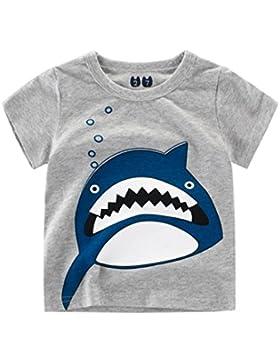 Logobeing Ropa Bebe Verano 2-7 Años Niño Camiseta de Dibujos Animados Impresión Camisetas de Manga Corta para...