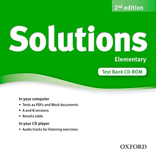 Solutions Elementary: Test CD-ROM 2nd Edition (Solutions Second Edition) - 9780194553391