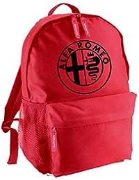 ef45b865af ZETAMARKT Zaino Borsa Zainetto Studente Backpack Rucksack Impermeabile  Palestra Alfa Romeo Car Racing Rosso RZR-