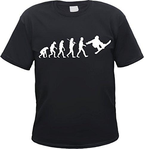 HB_Druck Evolution Snowboard Herren T-Shirt Snowboarder Schwarz XL