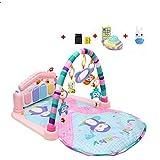 سلال لياقة بيانو بدواسة للأطفال حديثي الولادة, ألعاب موسيقية للأطفال الصغار للتعلم المبكر, طقم هدايا بطانية و وسادة النوم