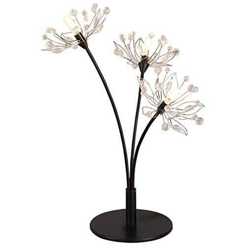 Eisen LED dekorative Nachttischlampe Moderner Minimalist Kreative Romantischer Einfachheit Bücherregal Licht Schlafzimmer (Color : White light) -