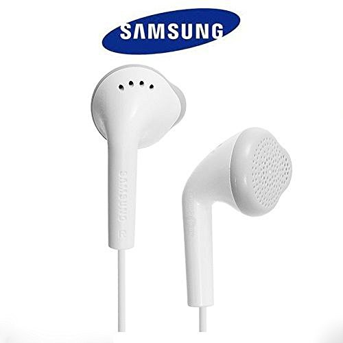 3.5 mm Jack Mp3 Earphones With Mic For Samsung Mobiles (White)