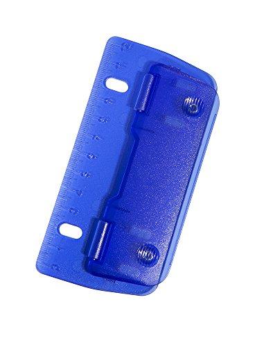 Genie PP-2 2fach Locher (zum Abheften, Metallstanzen, mit integrierten 12 cm Lineal) blau